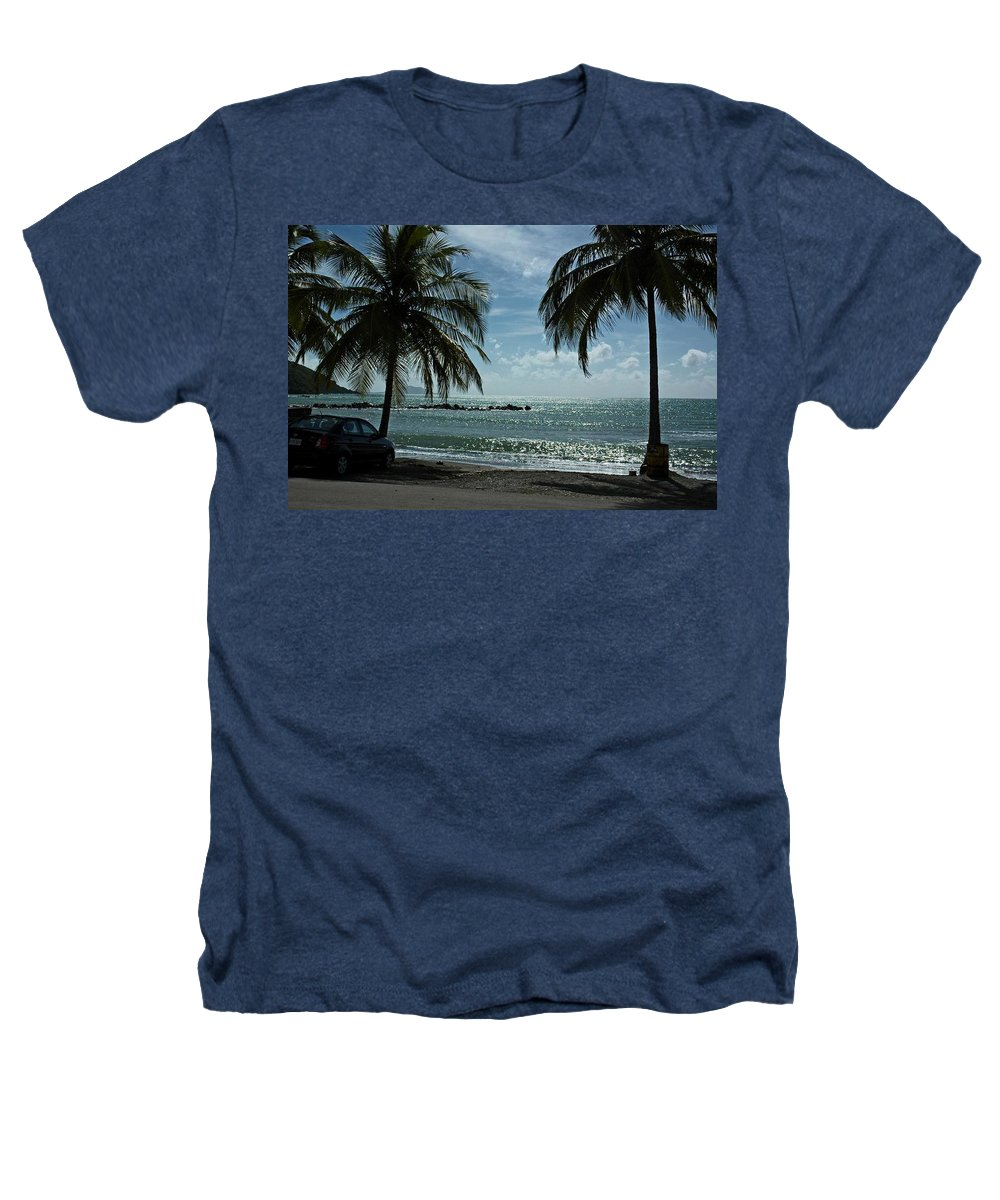 Landscape Heathers T-Shirt featuring the photograph Puerto Rican Beach by Tito Santiago