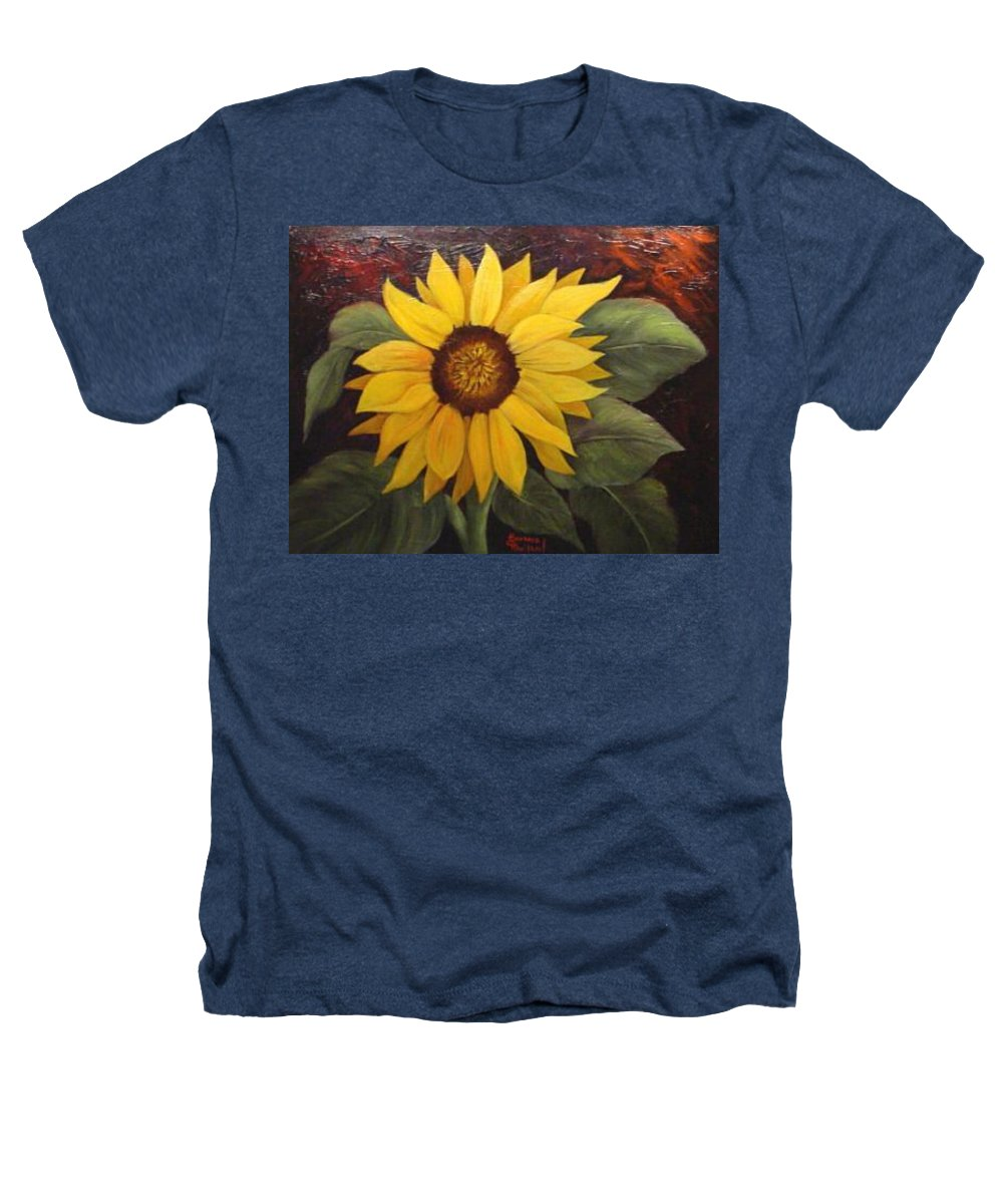 Still Life Heathers T-Shirt featuring the painting Pure Sunshine Sold by Susan Dehlinger