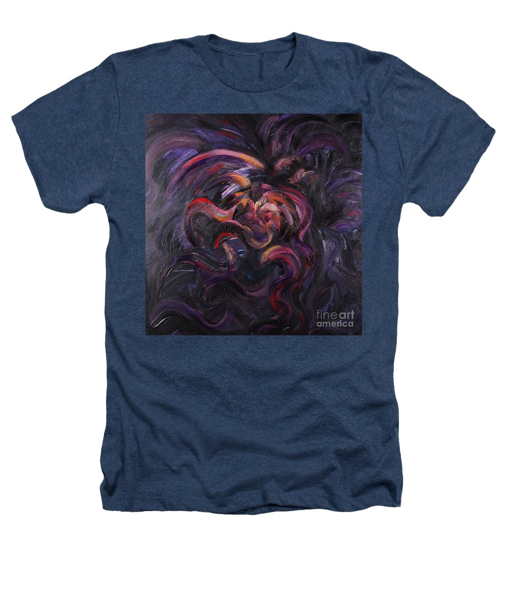 Purple Heathers T-Shirt featuring the painting Purple Passion by Nadine Rippelmeyer
