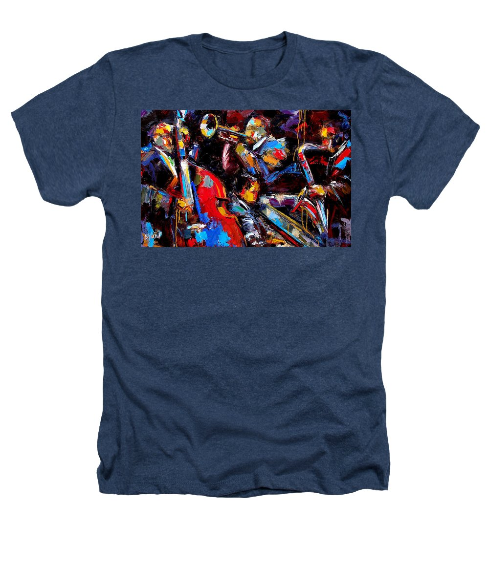 Jazz Paintings Heathers T-Shirt featuring the painting Quartet by Debra Hurd