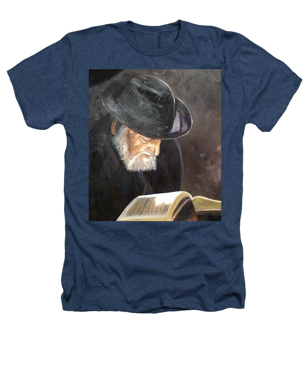 Portrait Heathers T-Shirt featuring the painting Rabbi by Toni Berry