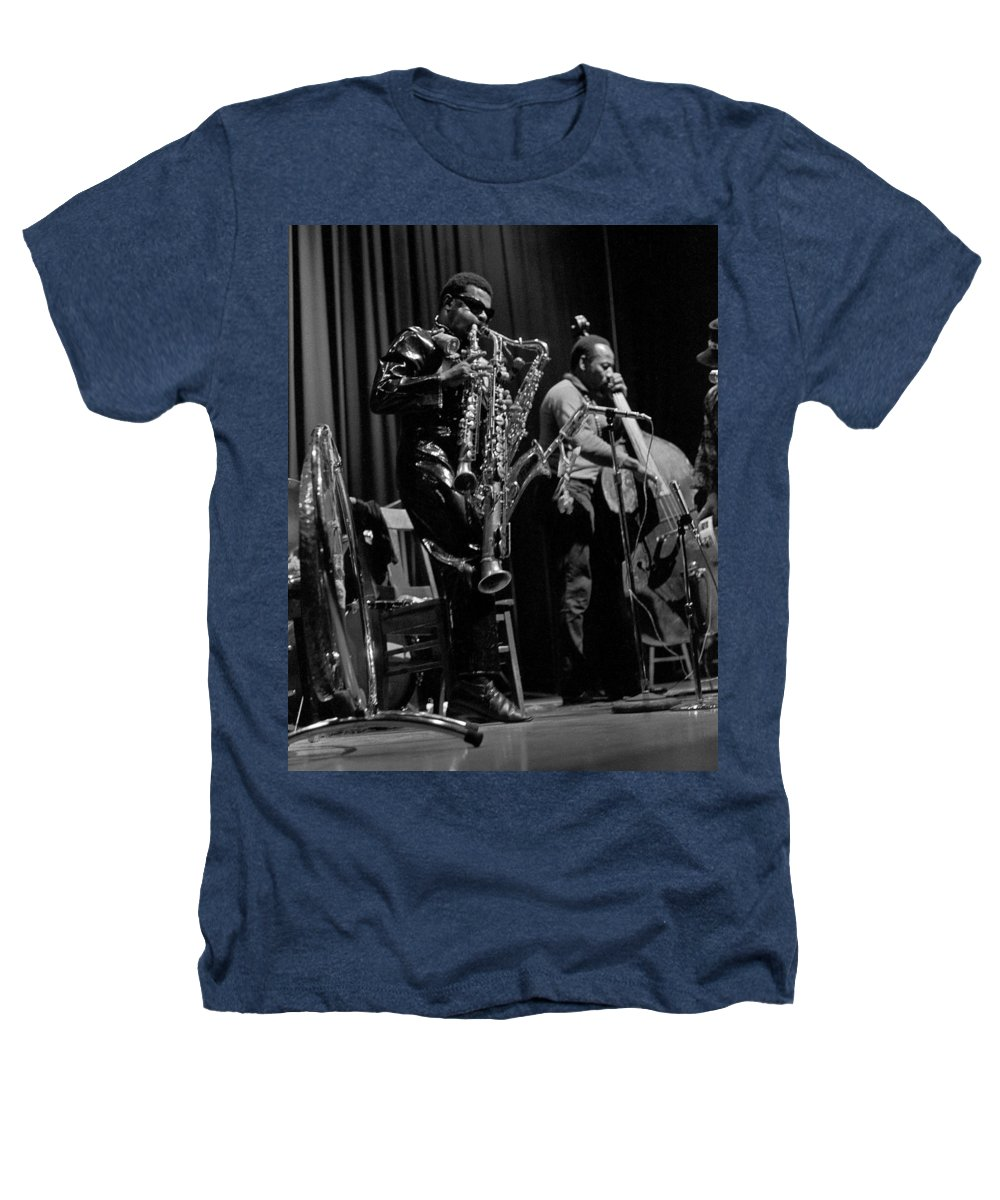 Rahsaan Roland Kirk Heathers T-Shirt featuring the photograph Rahsaan Roland Kirk 1 by Lee Santa