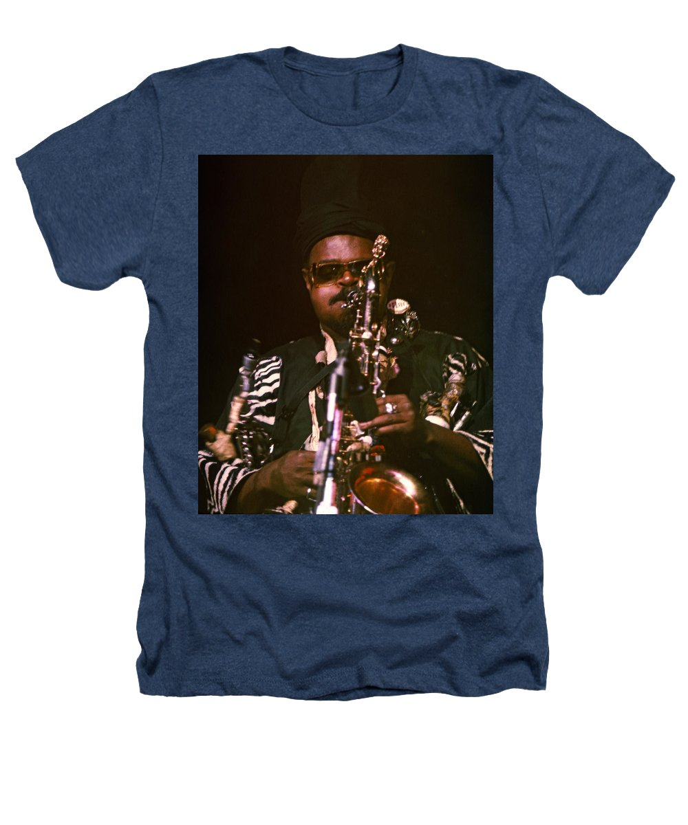 Rahsaan Roland Kirk Heathers T-Shirt featuring the photograph Rahsaan Roland Kirk 3 by Lee Santa
