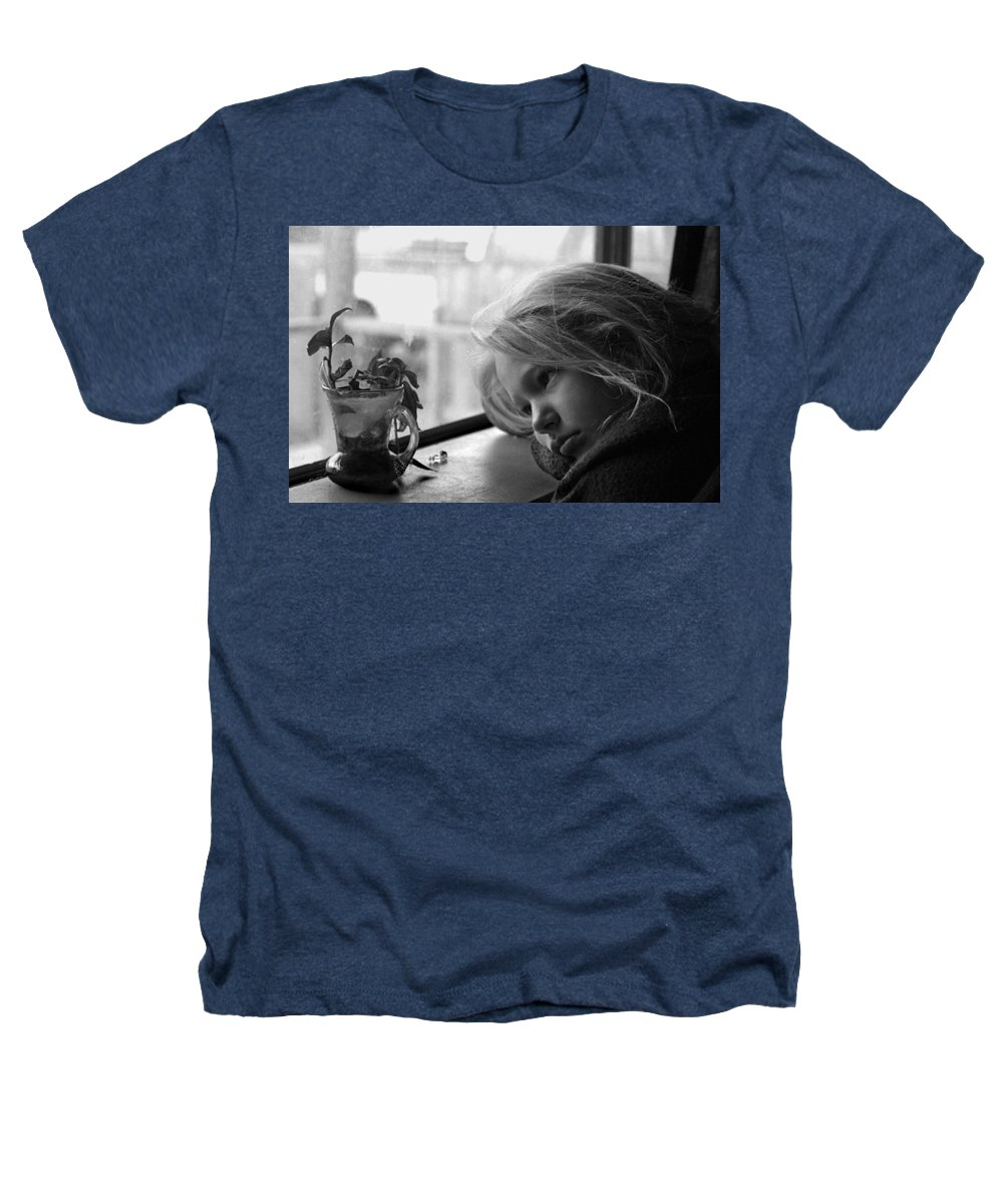 Sad Face Heathers T-Shirt featuring the photograph Rainy Day by Peter Piatt