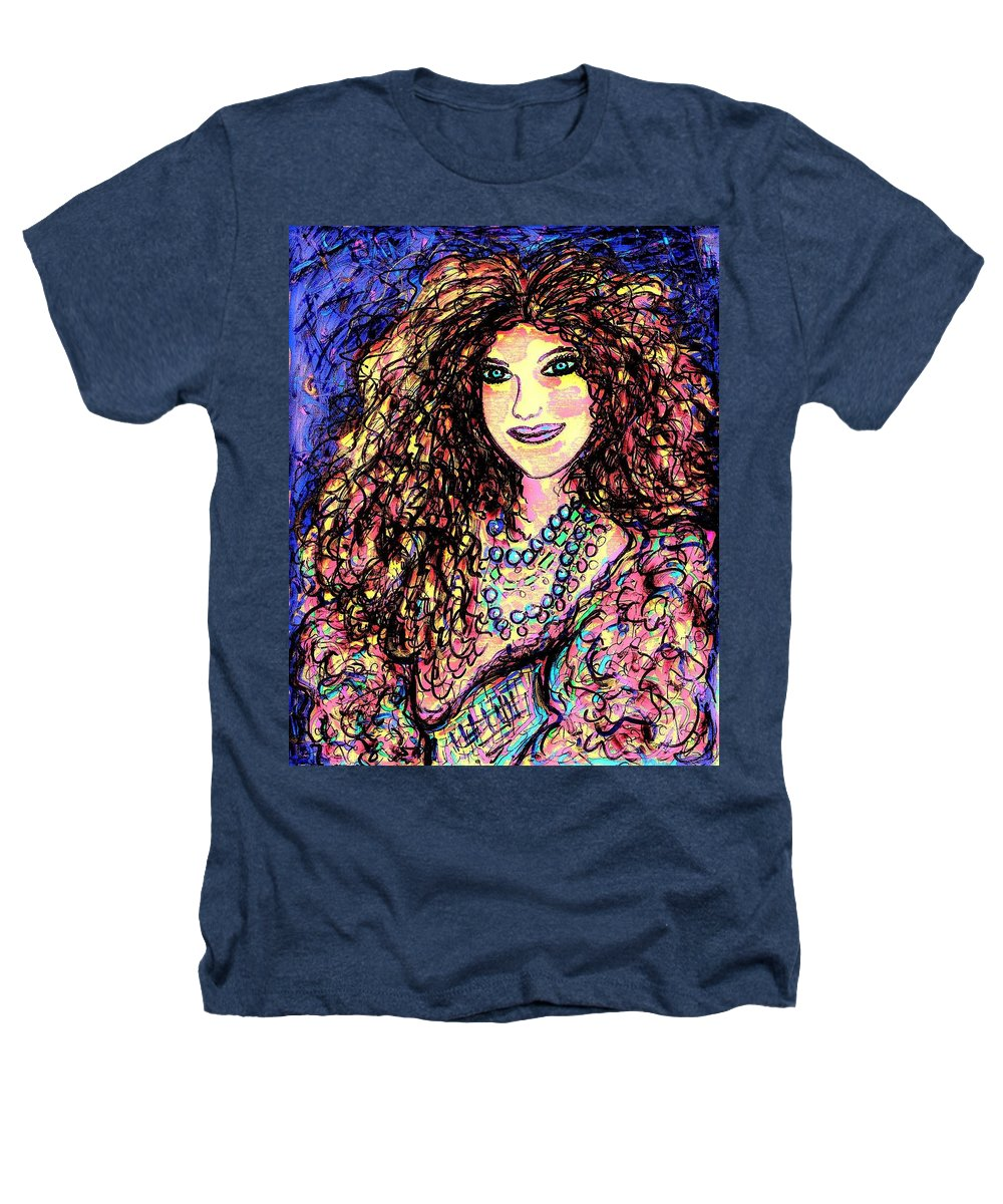 Woman Heathers T-Shirt featuring the painting Ravishing Beauty by Natalie Holland