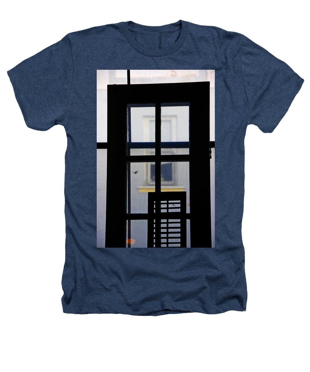 Architecture Heathers T-Shirt featuring the photograph Rear Window 2 by Skip Hunt