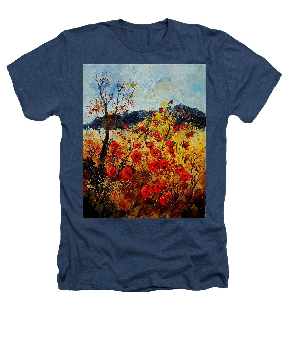 Poppies Heathers T-Shirt featuring the painting Red Poppies In Provence by Pol Ledent