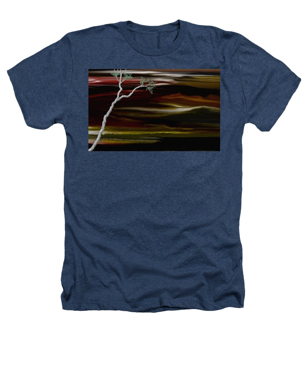 Digital Landscape Heathers T-Shirt featuring the digital art Redscape by David Lane
