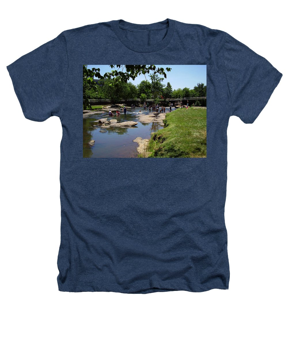 Reedy River Heathers T-Shirt featuring the photograph Reedy River by Flavia Westerwelle