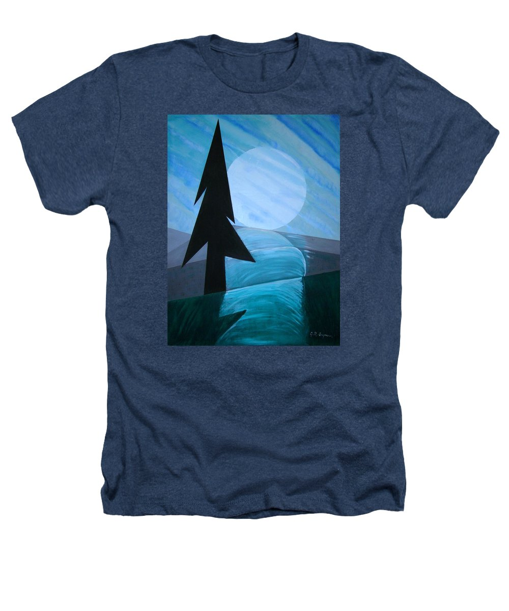 Phases Of The Moon Heathers T-Shirt featuring the painting Reflections On The Day by J R Seymour