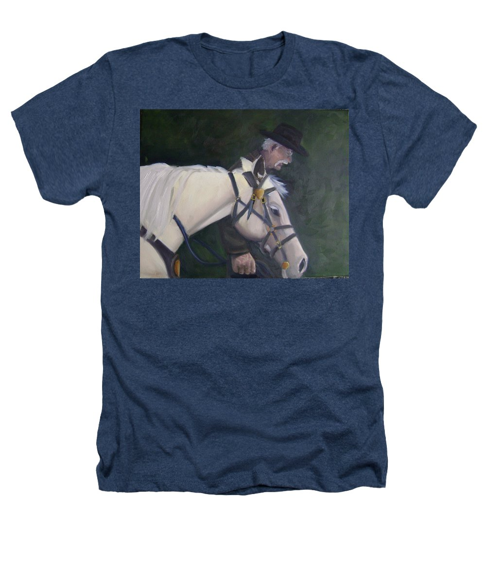 Old Man Horse... Heathers T-Shirt featuring the painting revised- Man's Best Friend by Toni Berry