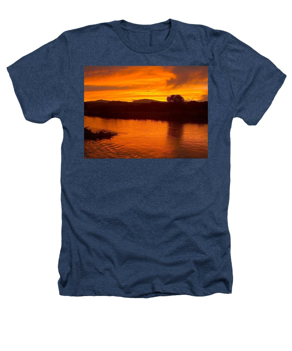 Sunset Heathers T-Shirt featuring the photograph Rio Grande Sunset by Tim McCarthy