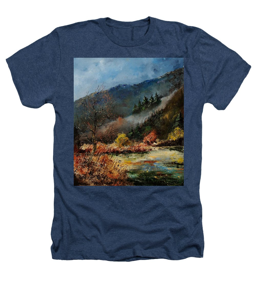 River Heathers T-Shirt featuring the painting River Semois by Pol Ledent