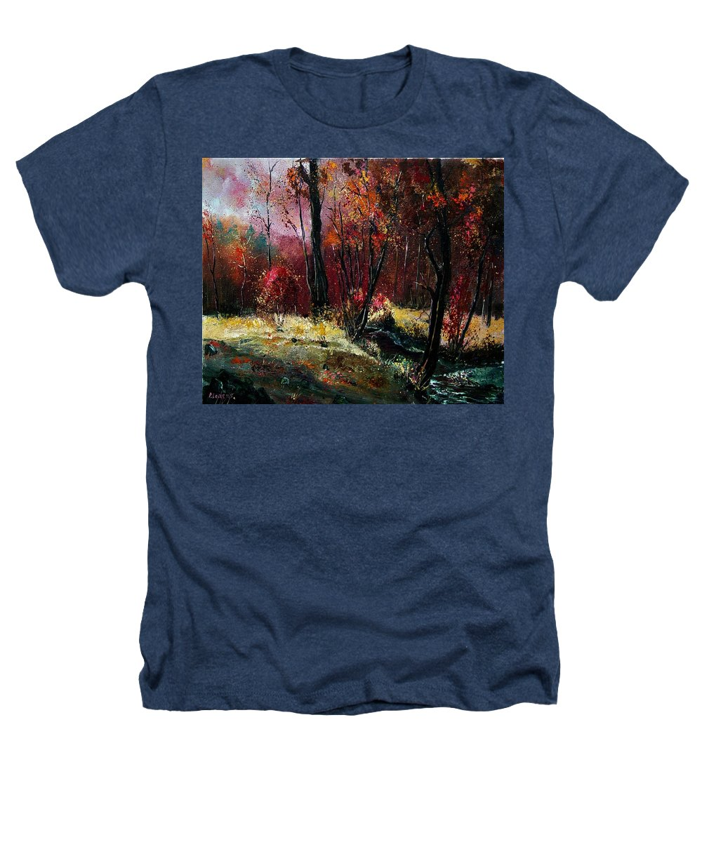 River Heathers T-Shirt featuring the painting River Ywoigne by Pol Ledent