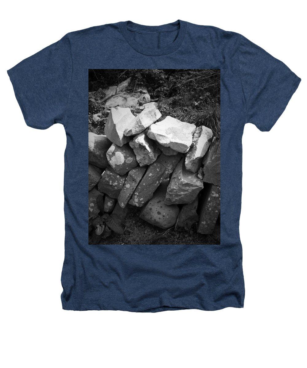 Irish Heathers T-Shirt featuring the photograph Rock Wall Doolin Ireland by Teresa Mucha