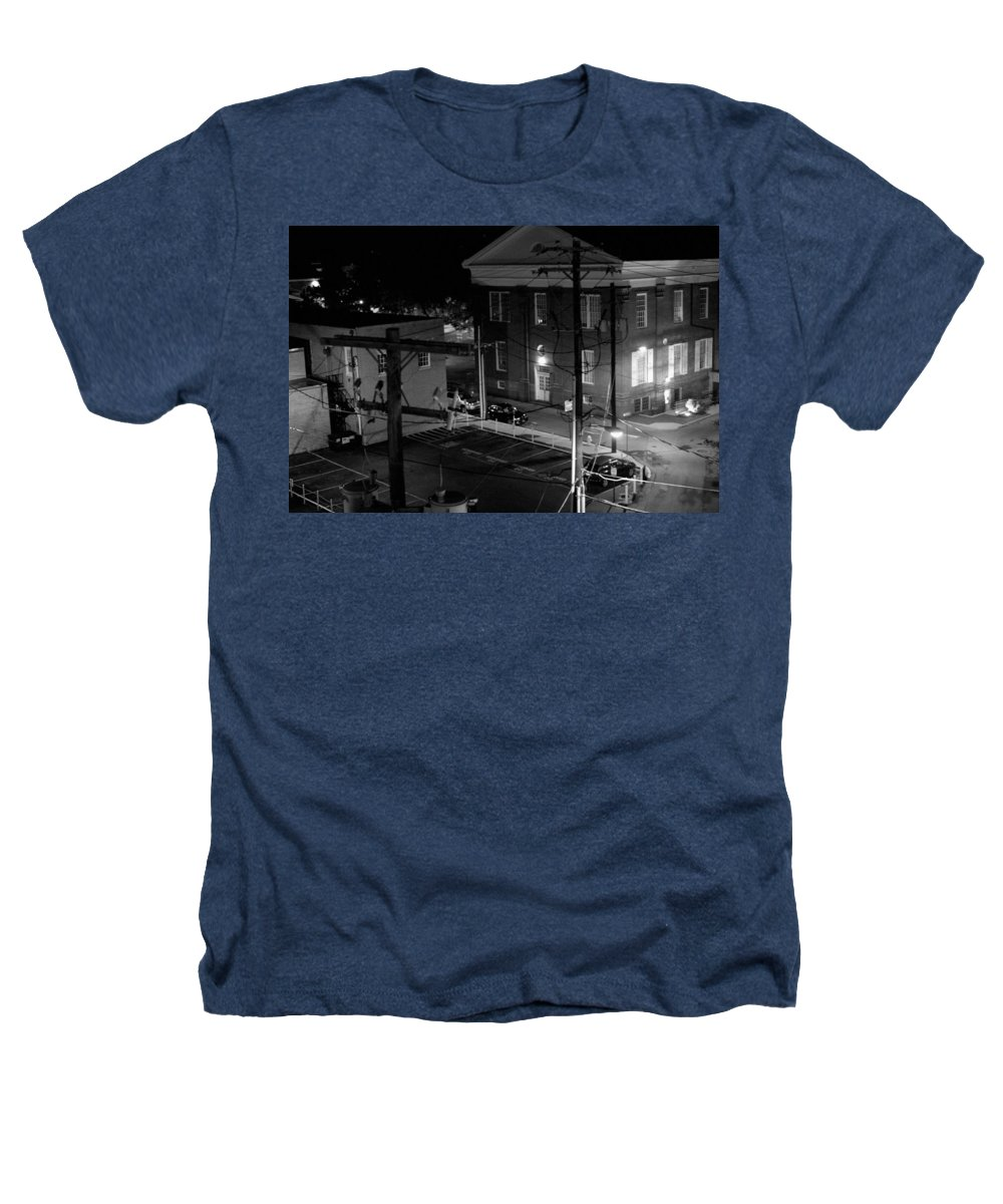 Black White Heathers T-Shirt featuring the photograph Rooftop Court by Jean Macaluso
