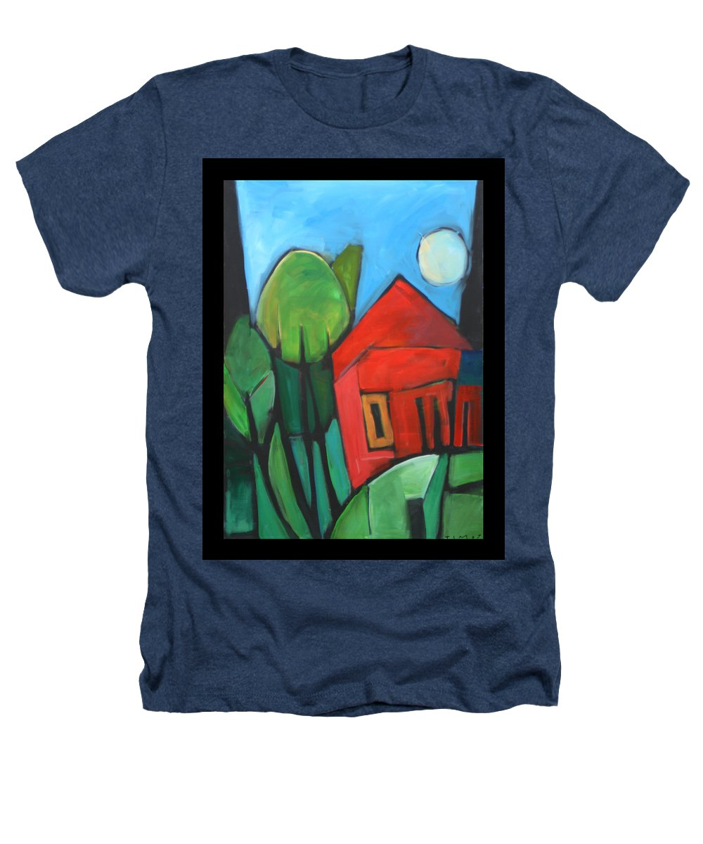 Trees Heathers T-Shirt featuring the painting Root Cellar by Tim Nyberg
