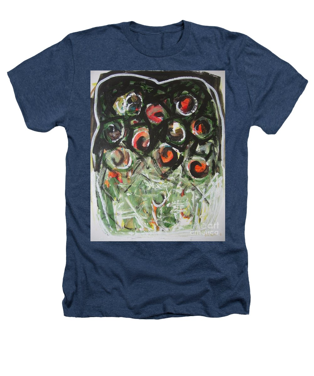 Abstract Painting Heathers T-Shirt featuring the painting Roses by Seon-Jeong Kim