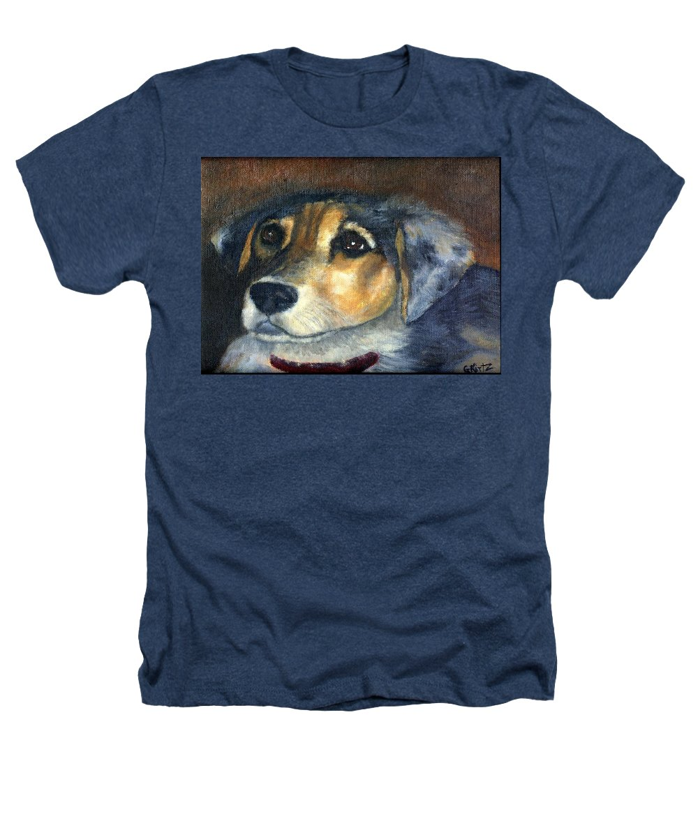 Dog Heathers T-Shirt featuring the painting Roxie by Gail Kirtz