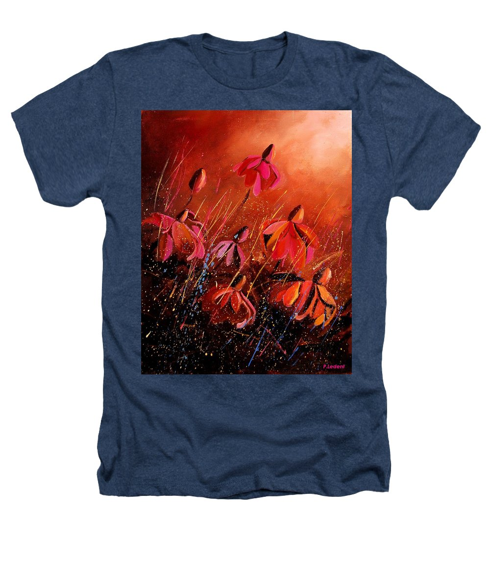Poppies Heathers T-Shirt featuring the painting Rudbeckia's 45 by Pol Ledent
