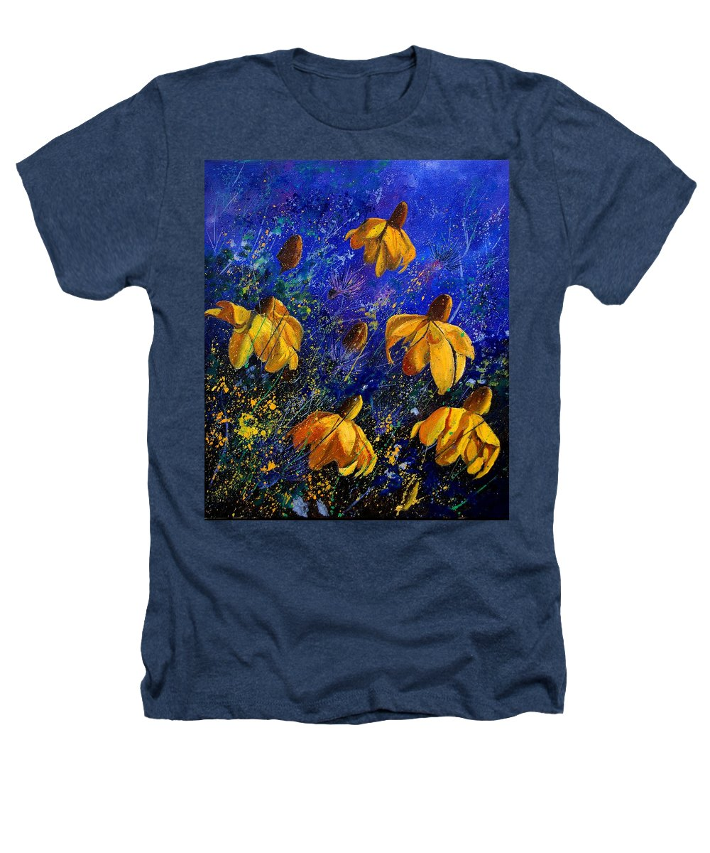 Poppies Heathers T-Shirt featuring the painting Rudbeckia's by Pol Ledent