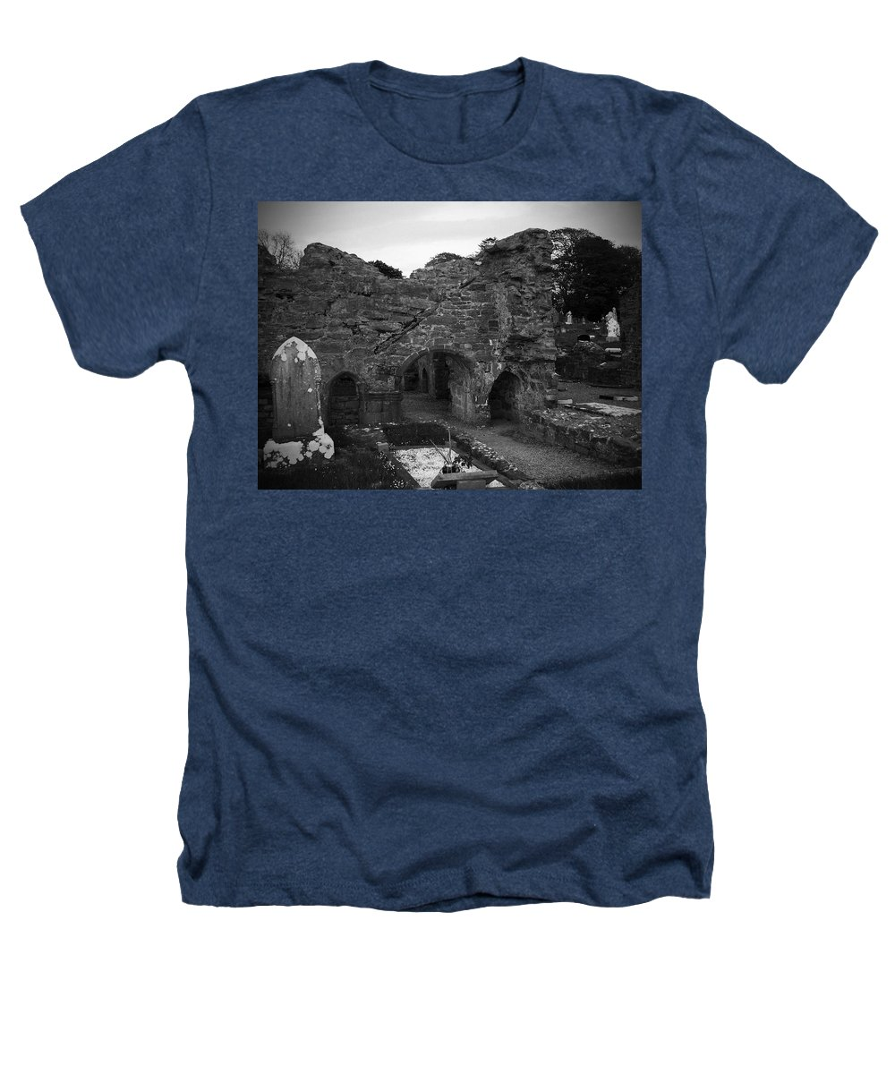 Irish Heathers T-Shirt featuring the photograph Ruins At Donegal Abbey Donegal Ireland by Teresa Mucha