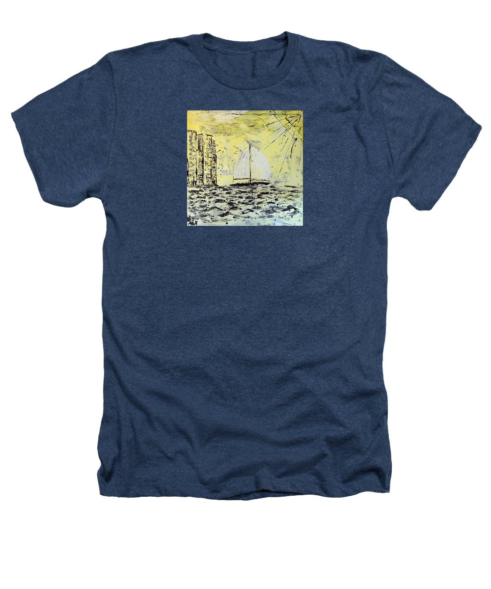 Abstract Heathers T-Shirt featuring the painting Sail And Sunrays by J R Seymour