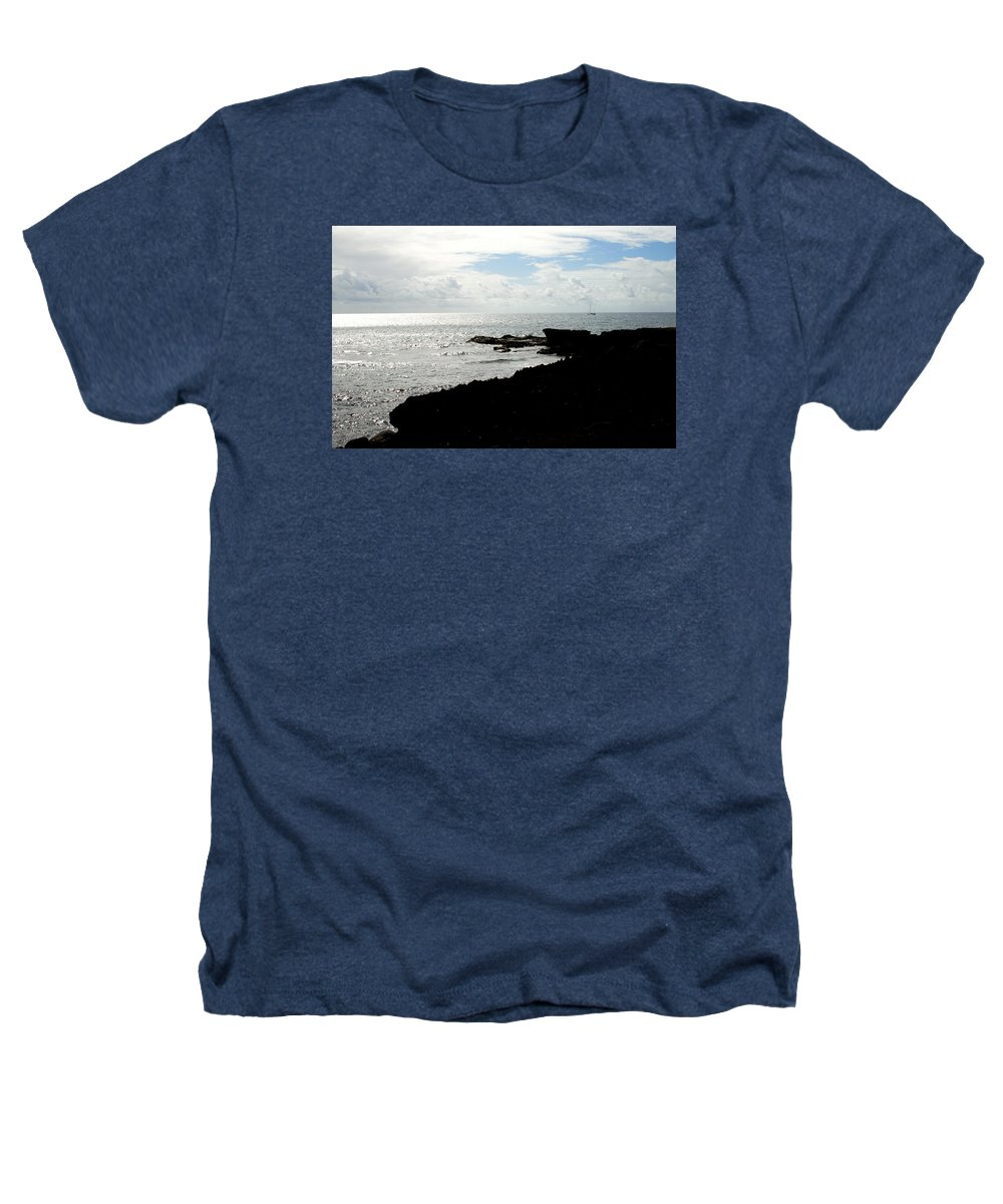 Sailboat Heathers T-Shirt featuring the photograph Sailboat At Point by Jean Macaluso