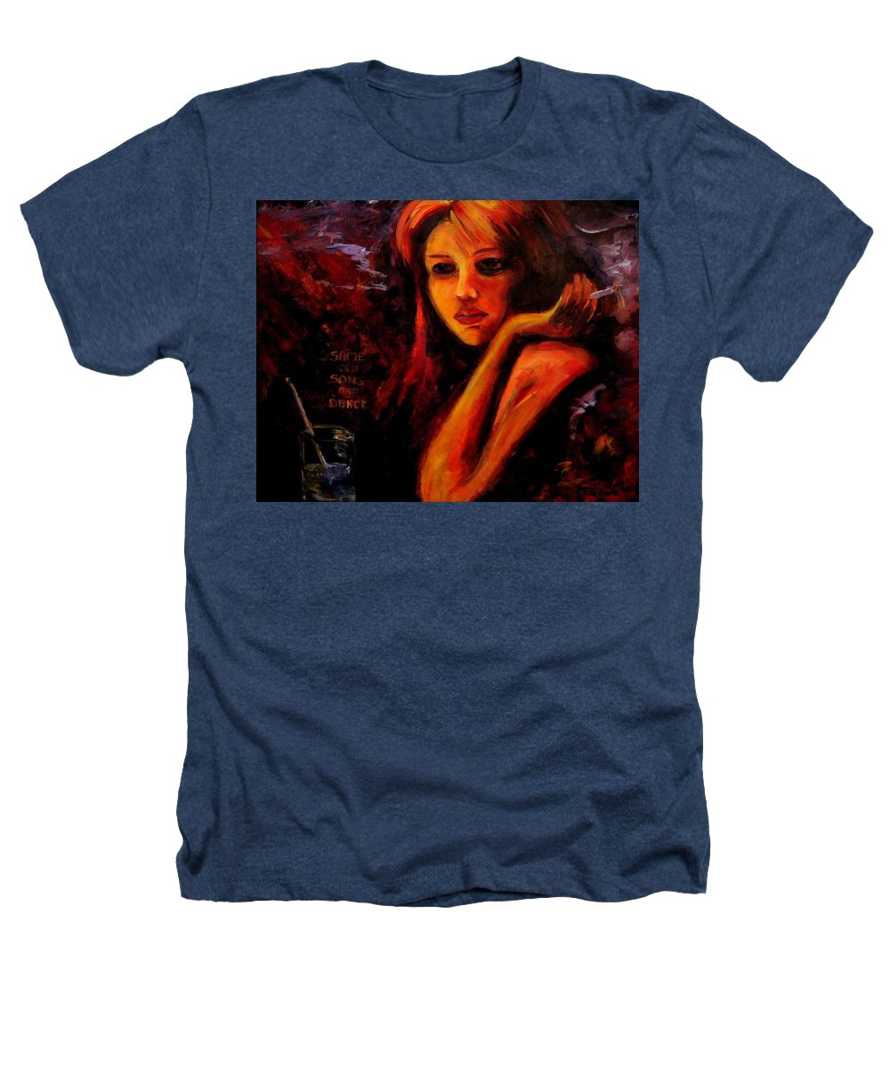 Woman Heathers T-Shirt featuring the painting Same Old Song And Dance by Jason Reinhardt