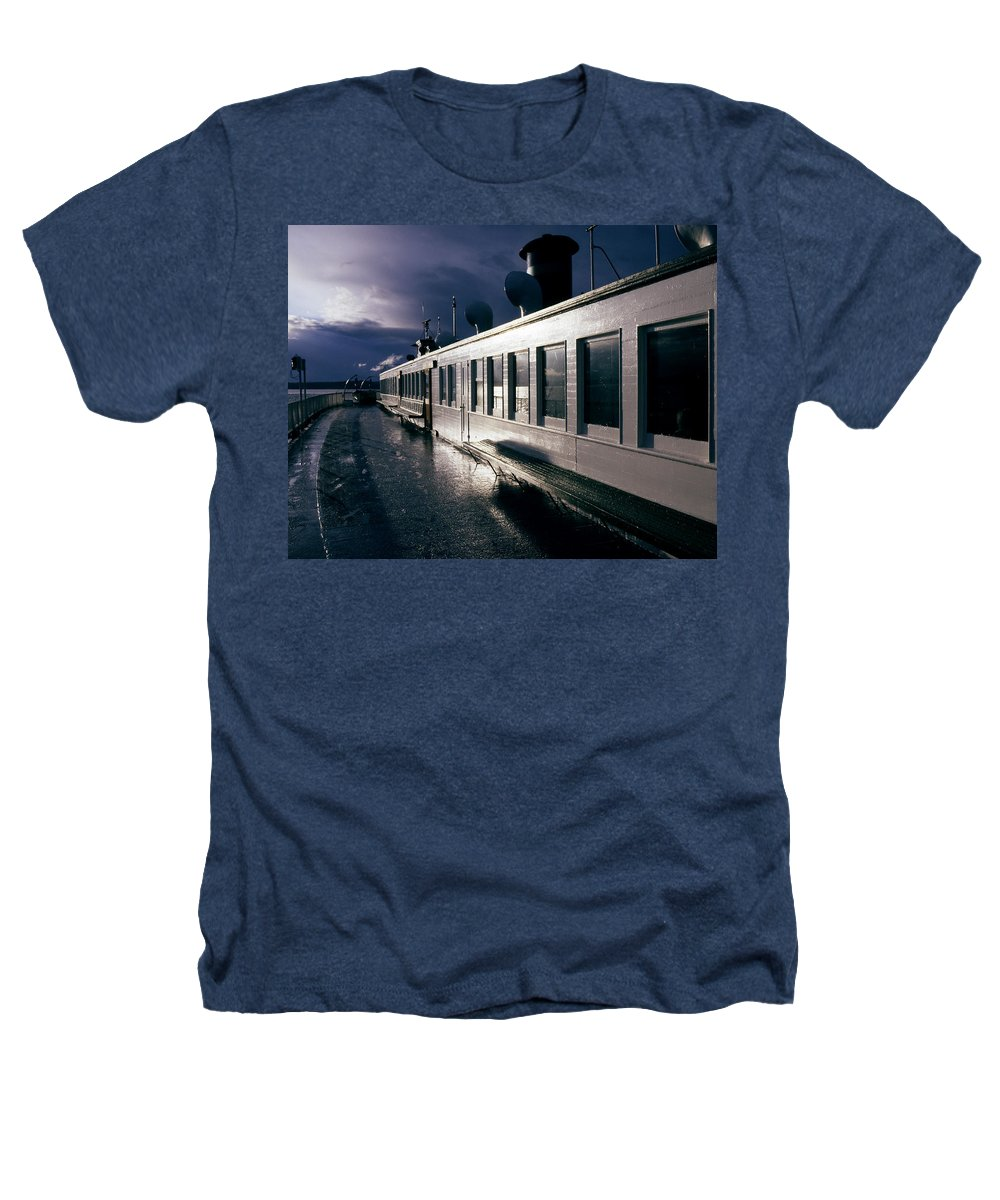 Scenic Heathers T-Shirt featuring the photograph San Juan Islands Ferry by Lee Santa