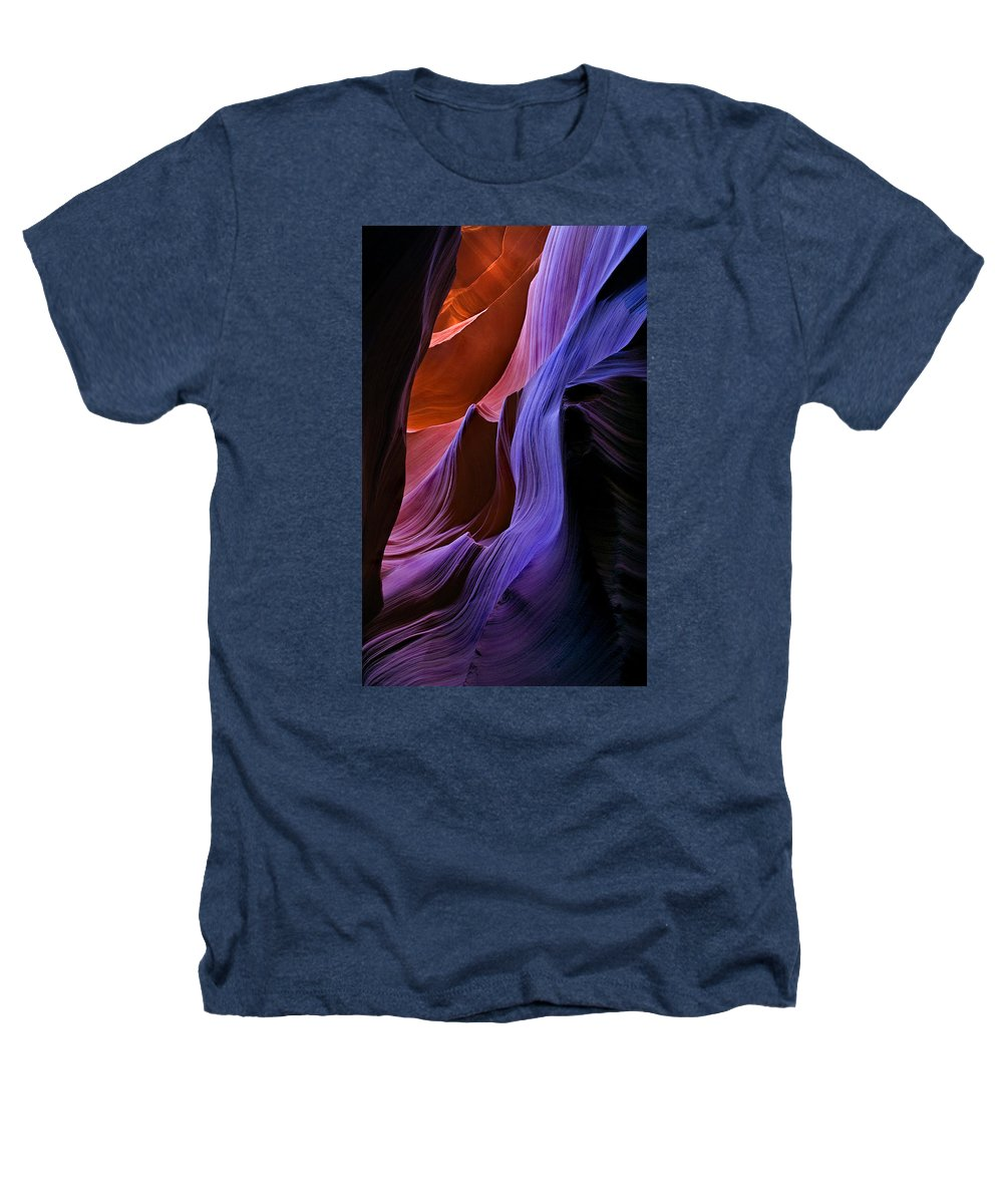 Sandstone Heathers T-Shirt featuring the photograph Sandstone Cascade by Mike Dawson