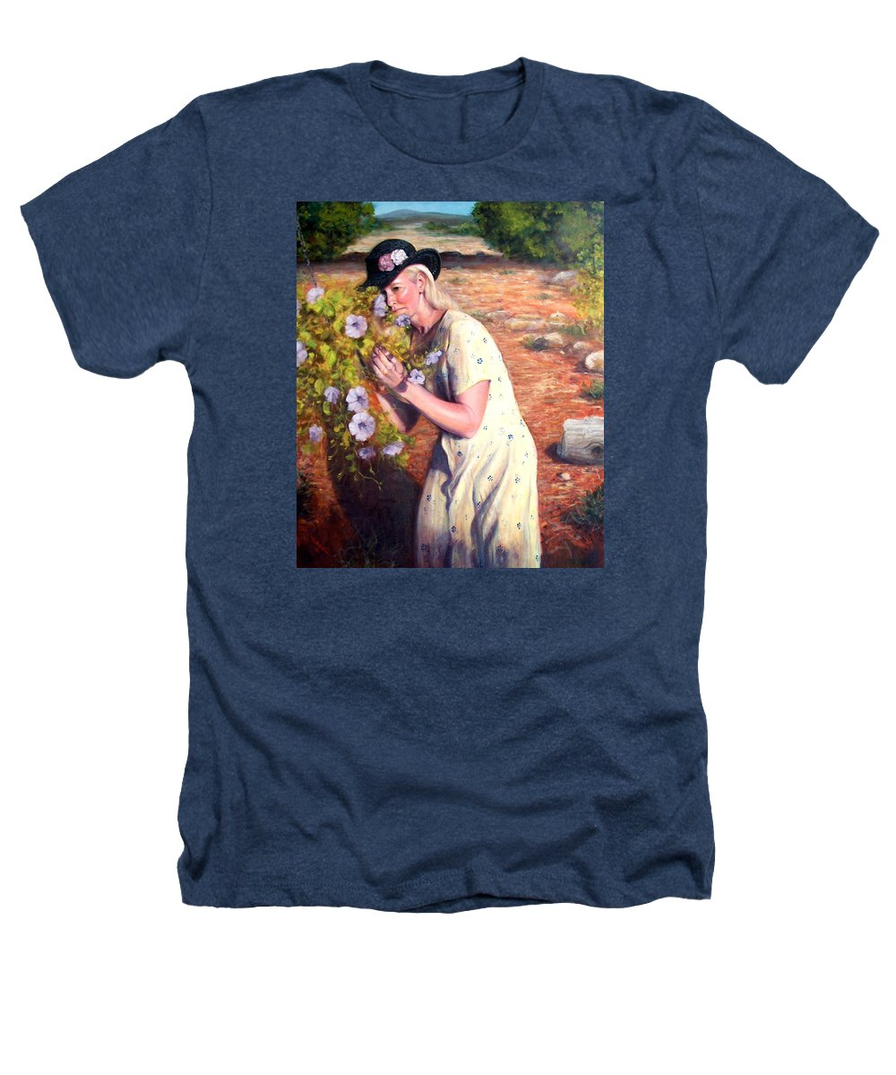 Realism Heathers T-Shirt featuring the painting Santa Fe Garden 2  by Donelli DiMaria