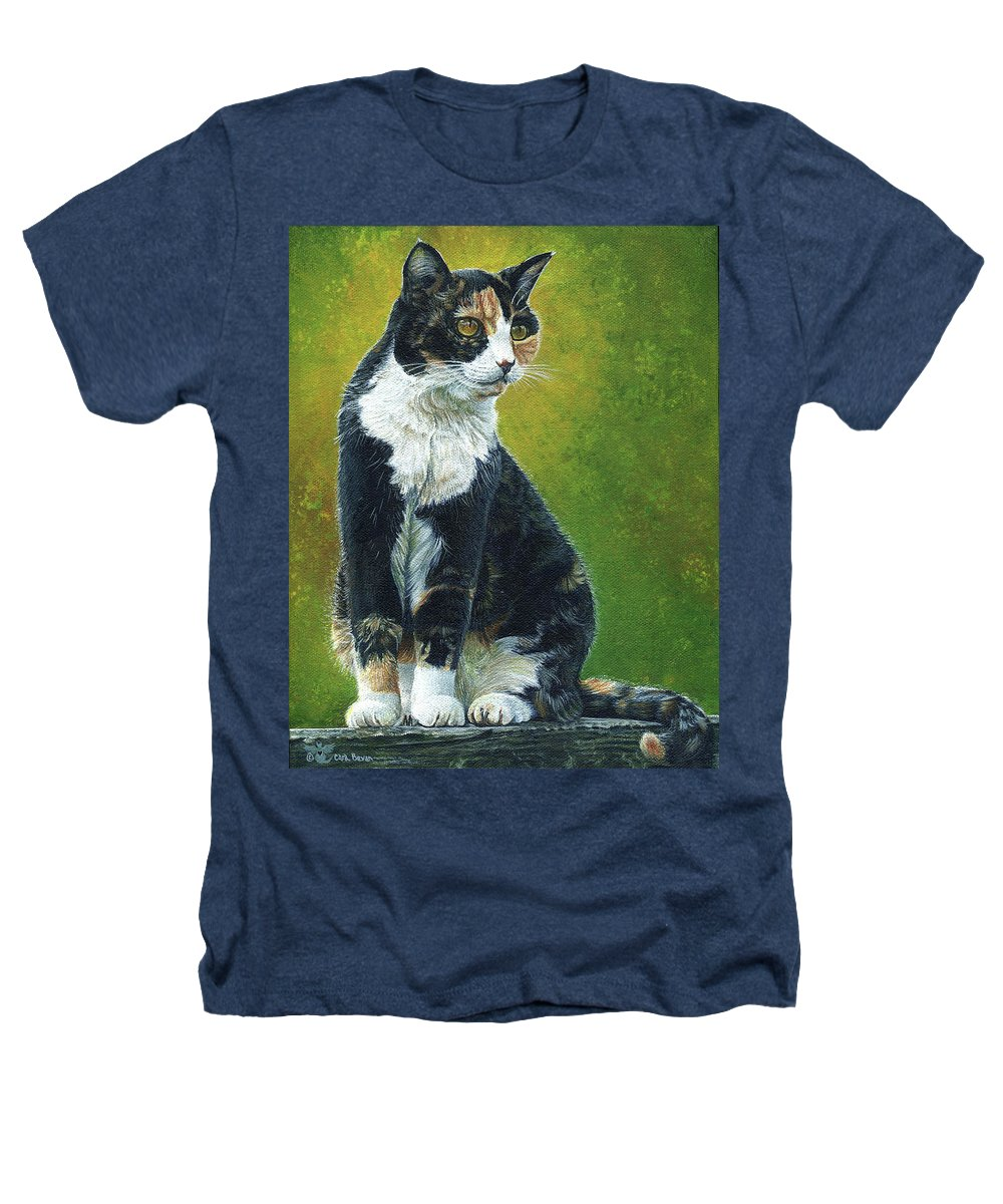 Sassy Heathers T-Shirt featuring the painting Sassy by Cara Bevan