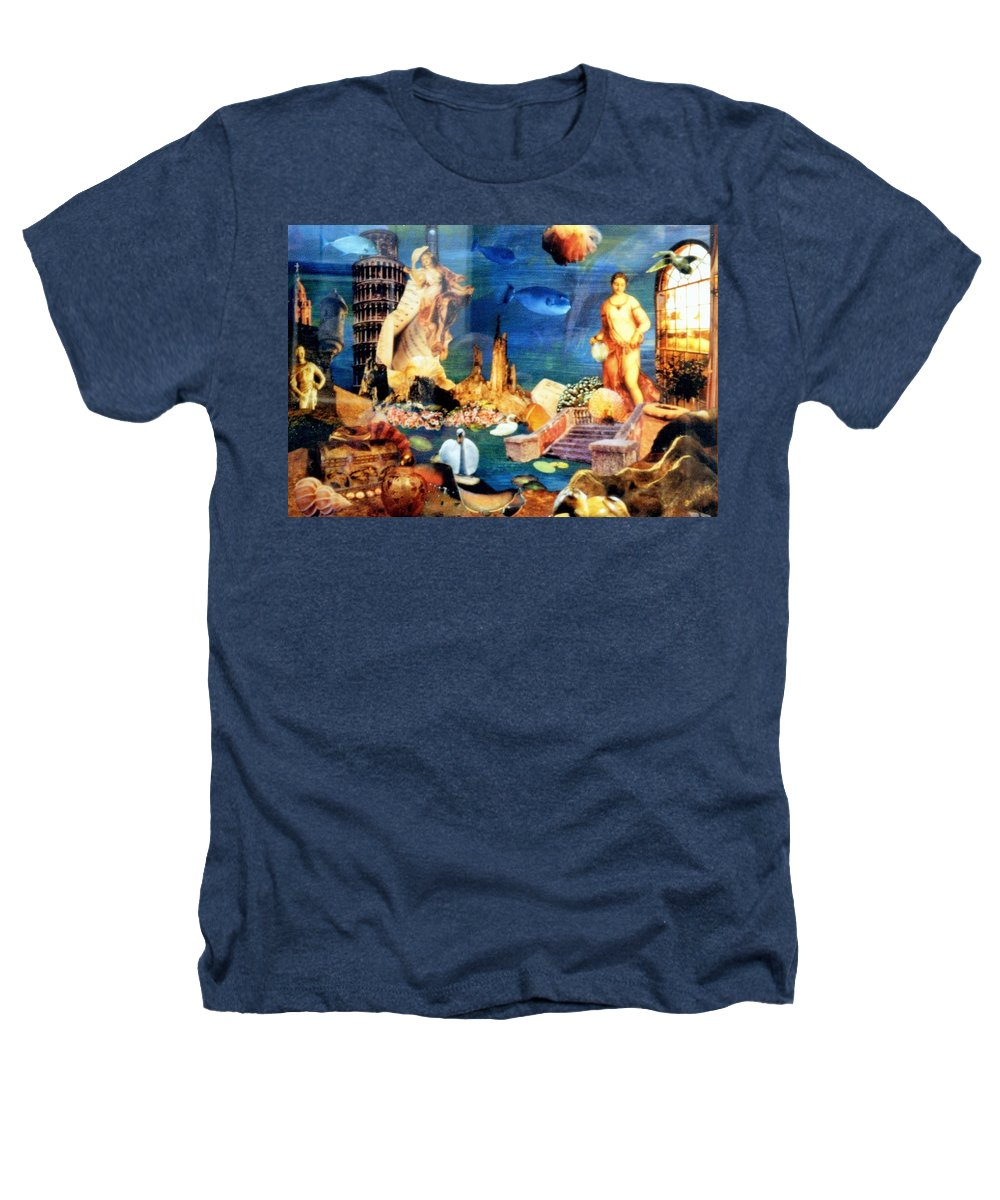 Fantasy Heathers T-Shirt featuring the painting Sea Garden by Gail Kirtz