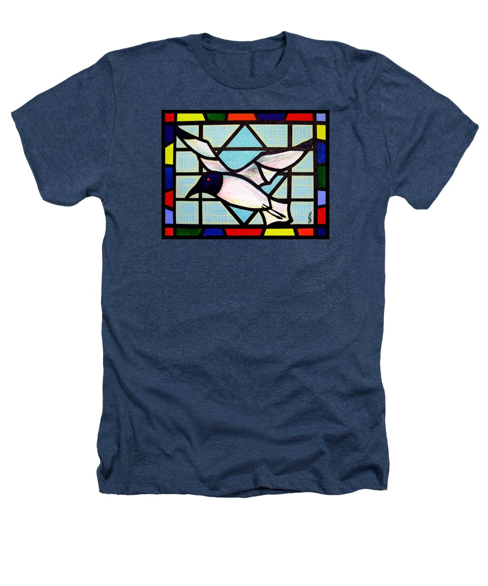 Seagull Heathers T-Shirt featuring the painting Seagull Serenade by Jim Harris