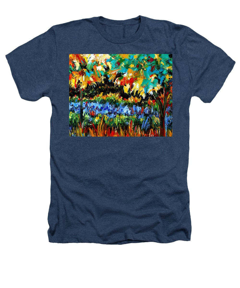 Landscape Heathers T-Shirt featuring the painting Secret Garden by Debra Hurd