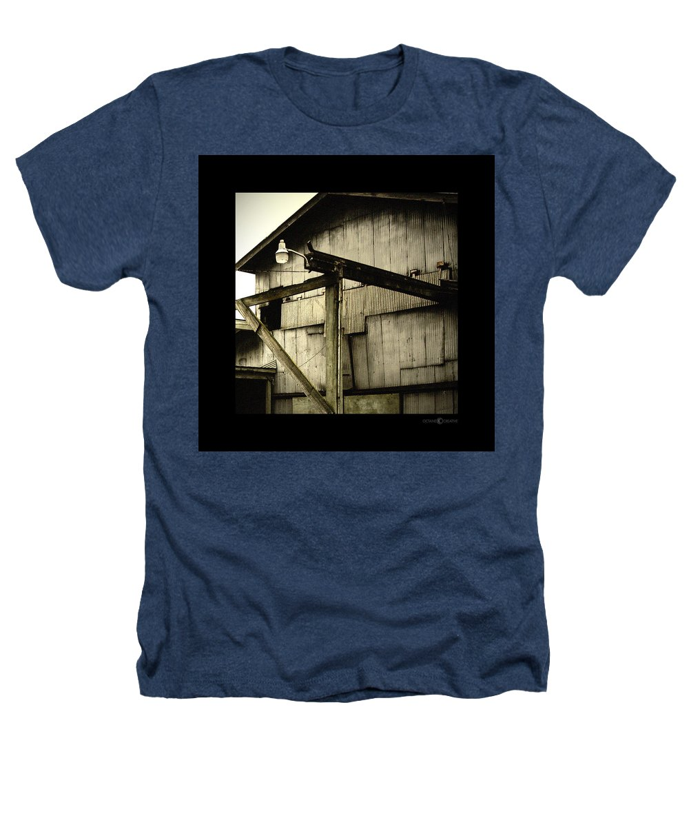 Corrugated Heathers T-Shirt featuring the photograph Security Light by Tim Nyberg