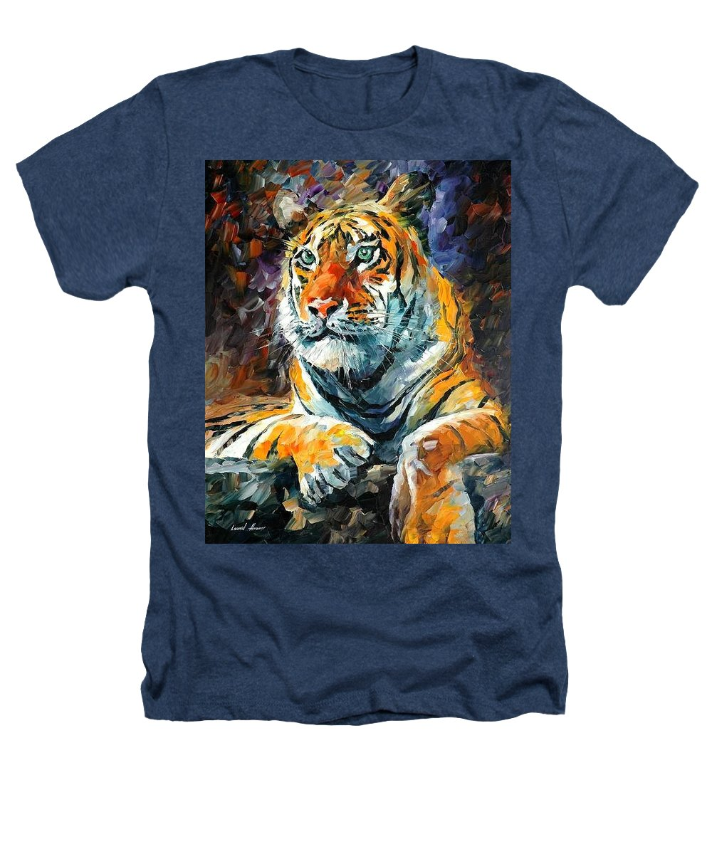 Painting Heathers T-Shirt featuring the painting Seibirian Tiger by Leonid Afremov