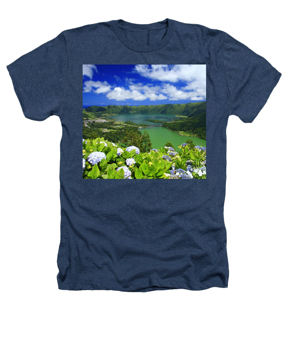 Sete Cidades Heathers T-Shirt featuring the photograph Sete Cidades Crater by Gaspar Avila
