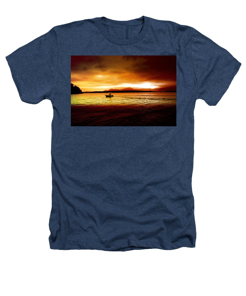 Landscape Heathers T-Shirt featuring the photograph Shores Of The Soul by Holly Kempe