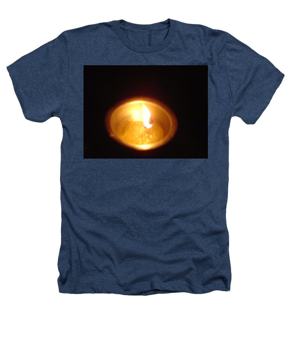 Indian Heathers T-Shirt featuring the photograph Silver Lamp by Usha Shantharam