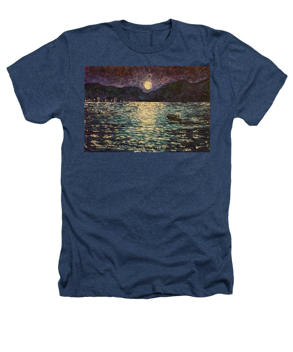 Landscape Heathers T-Shirt featuring the painting Silver Sea by Ericka Herazo