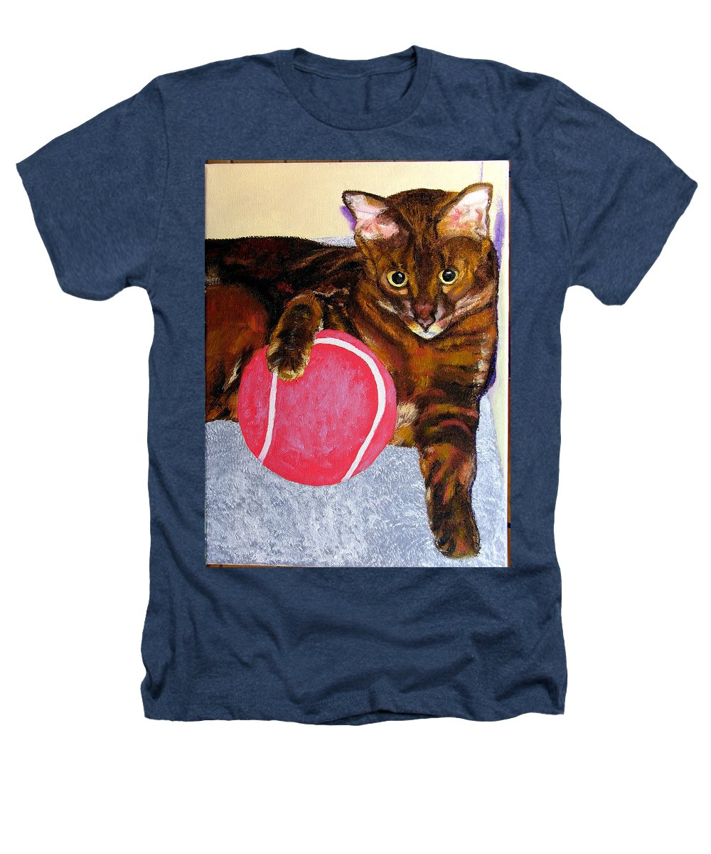 Cat Heathers T-Shirt featuring the painting Simon by Stan Hamilton