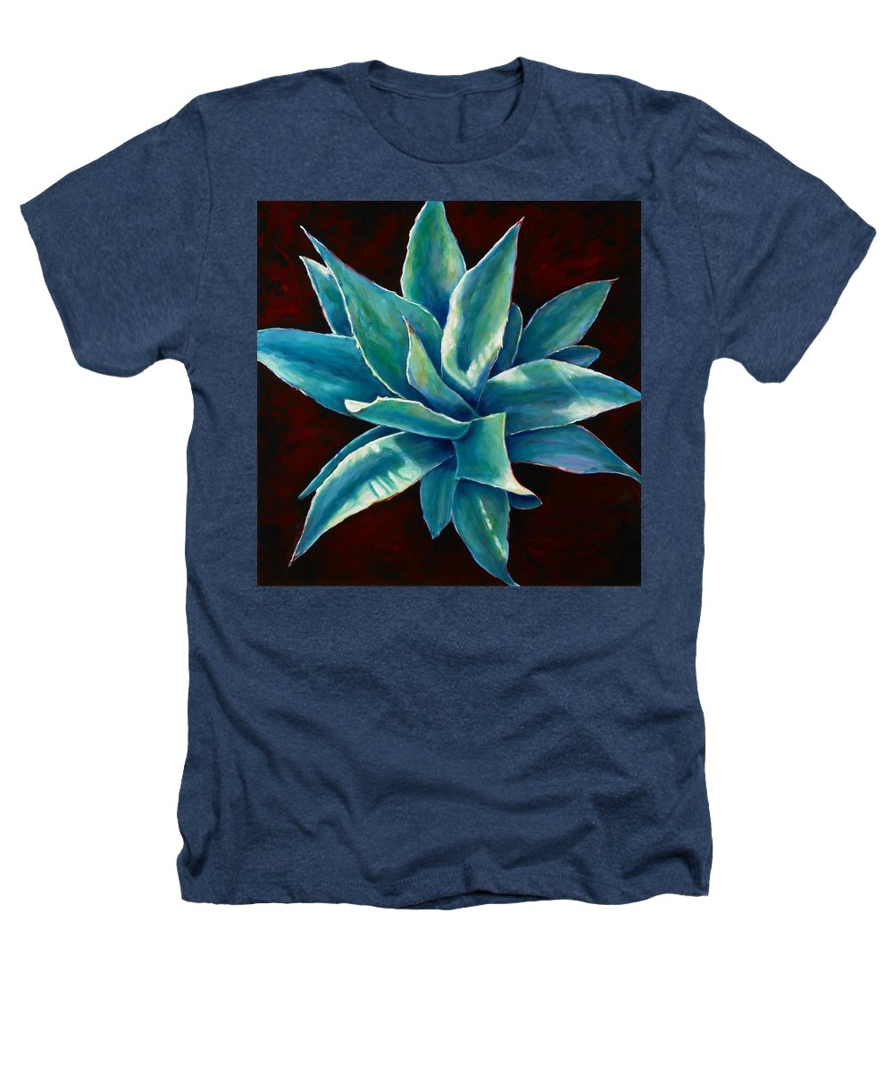 Agave Heathers T-Shirt featuring the painting Simply Succulent by Shannon Grissom