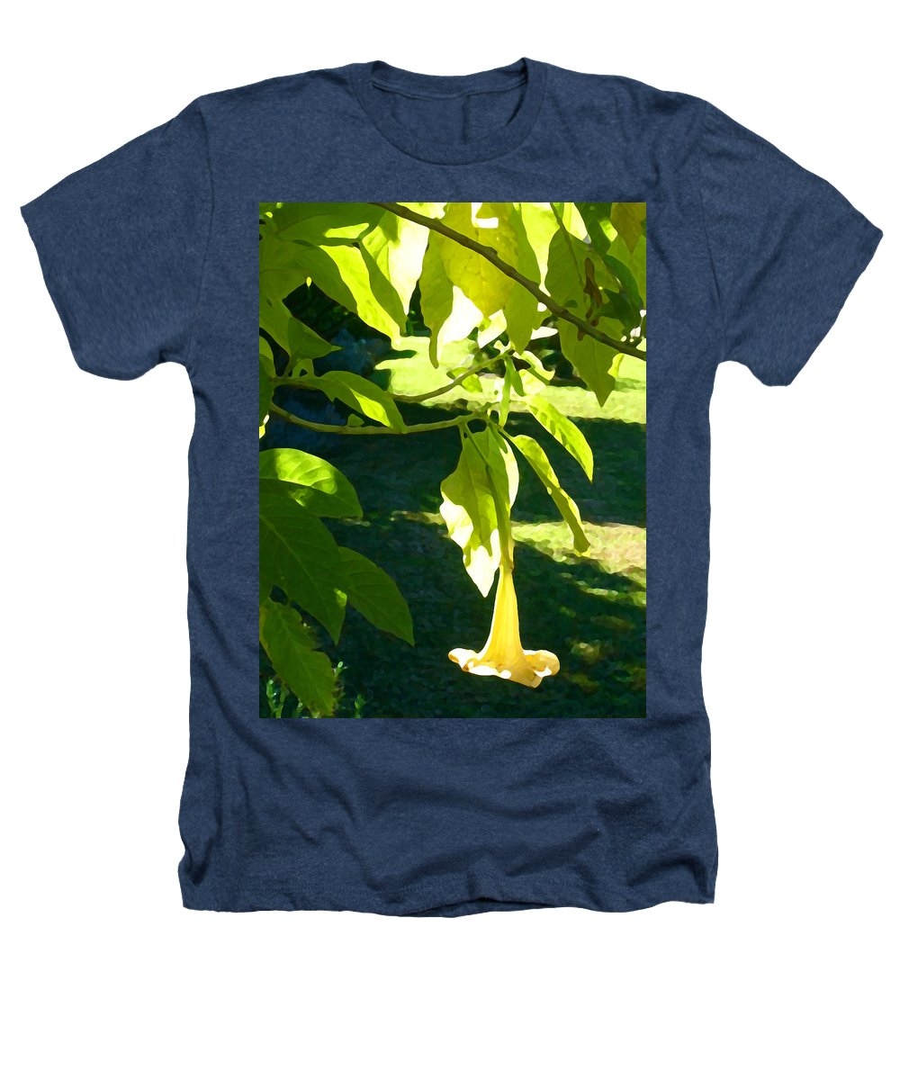 Spring Heathers T-Shirt featuring the painting Single Angel's Trumpet by Amy Vangsgard
