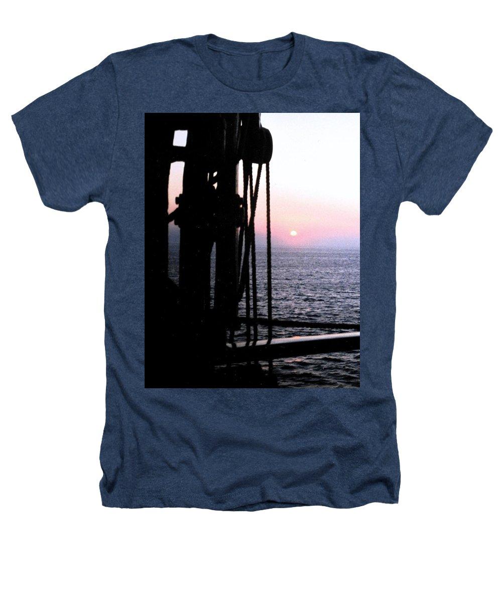 Ship Heathers T-Shirt featuring the photograph Sinking Sun by Ian MacDonald