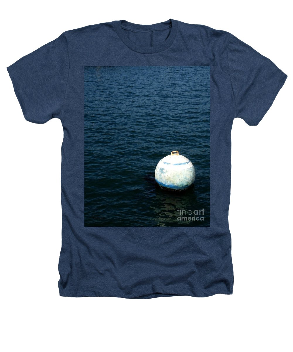 Seascape Heathers T-Shirt featuring the photograph Sit And Bounce by Shelley Jones