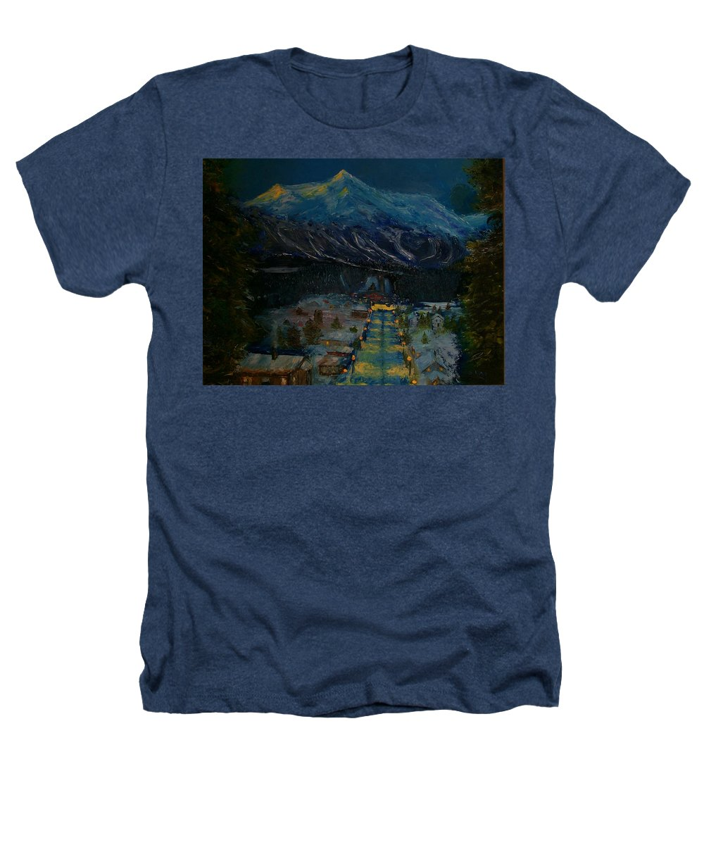 Winter Heathers T-Shirt featuring the painting Ski Resort by Stephen King