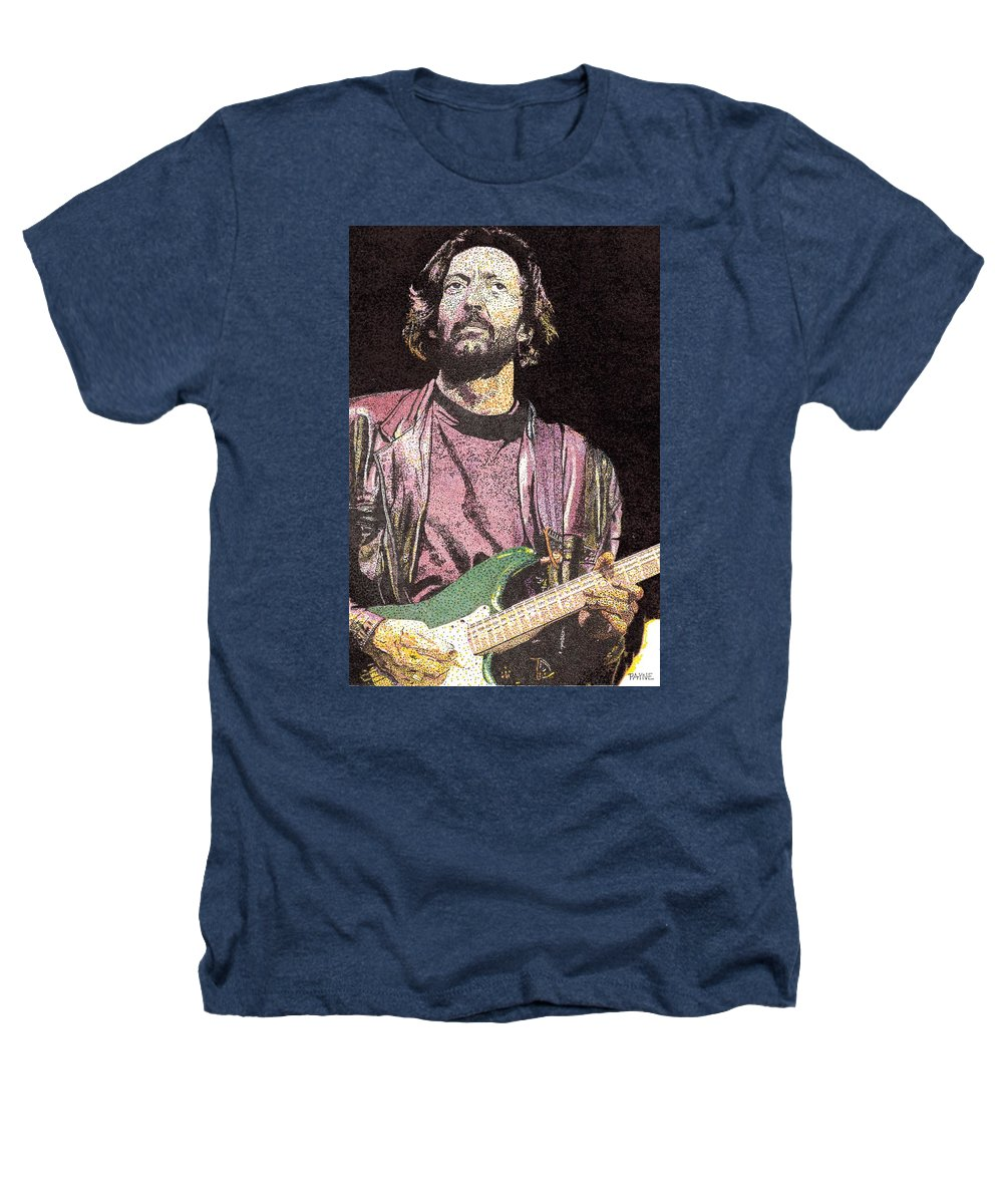 Portrait Heathers T-Shirt featuring the painting Slowhand by Rob Payne