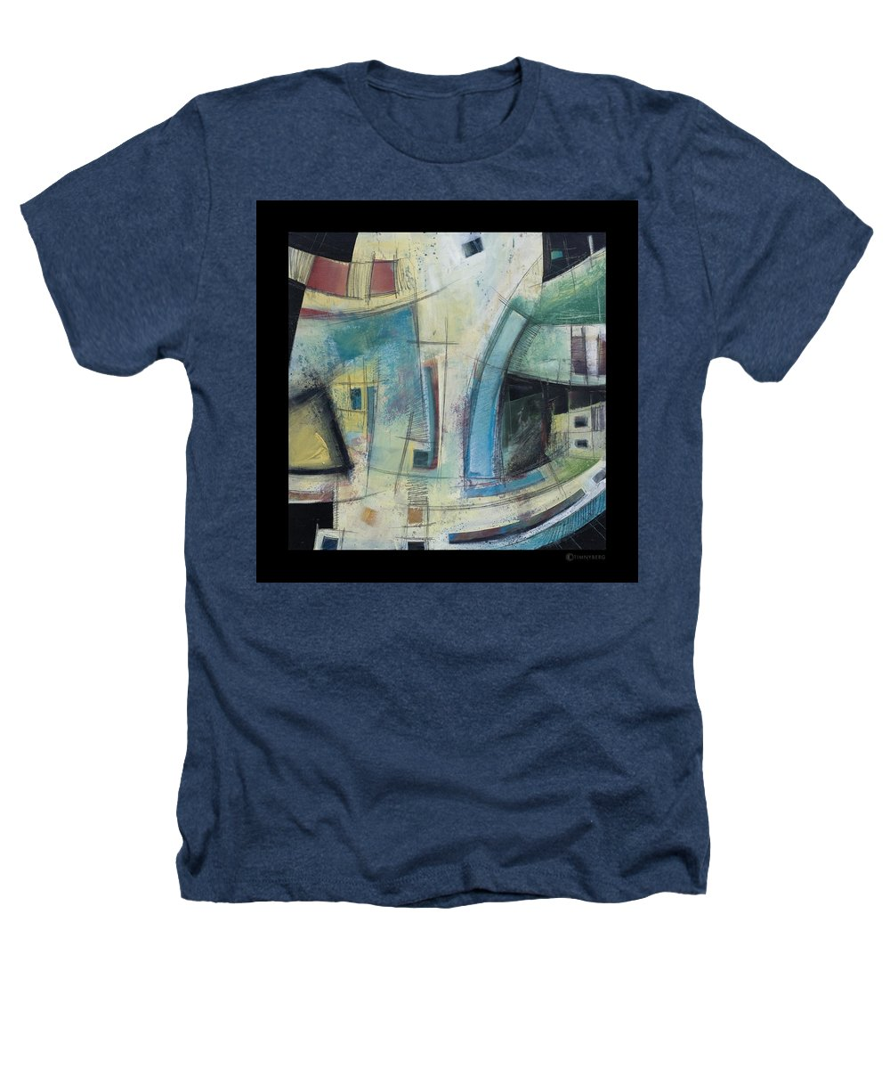 Abstract Heathers T-Shirt featuring the painting Small Town Blues by Tim Nyberg